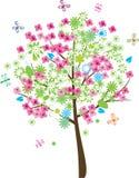 De boom van de zomer Vector Illustratie