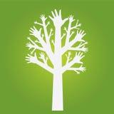 De boom van handen Stock Afbeeldingen
