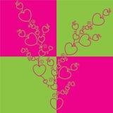 De boom van harten. Vector Illustratie