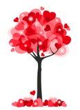 De boom van harten Stock Foto