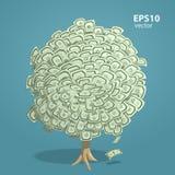 De boom van het geld Stock Afbeeldingen