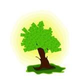 De boom van het geld met dollars Royalty-vrije Stock Afbeelding
