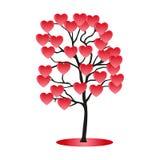 De boom van het hart Stock Fotografie