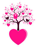 De boom van het hart het groeien van hart Royalty-vrije Stock Foto's