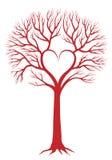 De boom van het hart, vectorachtergrond Stock Foto