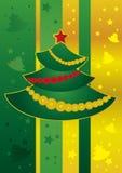 De boom van het nieuwjaar Royalty-vrije Illustratie