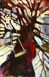 De boom van het olieverfschilderij Stock Foto's
