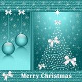De boom van Kerstmis, ballen en bogen Royalty-vrije Stock Foto's