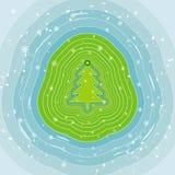 De boom van Kerstmis, vector  Stock Foto's
