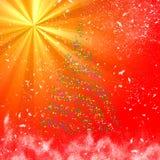 De Boom van Kerstmisbokeh op lichte straalachtergrond royalty-vrije illustratie