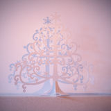 De boom van metaalkerstmis Stock Afbeeldingen