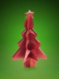 De boom van origamikerstmis stock foto's