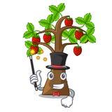 De boom van de tovenaaraardbei met het beeldverhaal wordt geïsoleerd dat royalty-vrije illustratie
