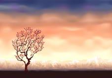 De boomachtergrond van de herfst vector illustratie