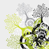 De boomachtergrond van Grunge, vector Royalty-vrije Stock Afbeeldingen