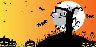 De boomachtergrond van Halloween royalty-vrije illustratie