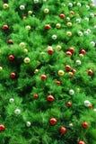 De boomachtergrond van Kerstmis Stock Afbeelding