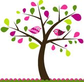 De boomachtergrond van valentijnskaarten Royalty-vrije Stock Afbeeldingen