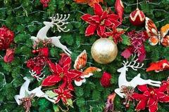De boomdecoratie van de pijnboom Stock Fotografie
