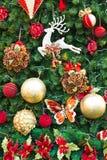 De boomdecoratie van de pijnboom Royalty-vrije Stock Afbeeldingen