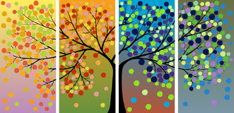 De boomdecoratie van de vier seizoenen Royalty-vrije Stock Afbeeldingen