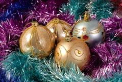 De boomdecoratie van het nieuw-jaar Stock Foto