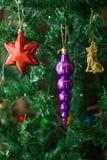De boomdecoratie van Kerstmis. Sluit omhoog. Royalty-vrije Stock Afbeeldingen