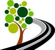 De boomembleem van de weg stock illustratie