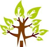 De boomembleem van het huis Stock Afbeelding