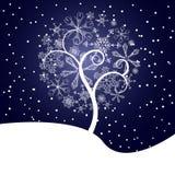 De boomillustratie van de sneeuw Stock Fotografie