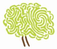 De boomillustratie van hersenen Royalty-vrije Stock Afbeeldingen