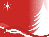 De boomkaart van Kerstmis Stock Foto