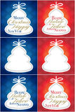 De boomkaart van Kerstmisgroeten Stock Afbeeldingen