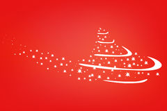 De boomlichten van Kerstmis op de rode achtergrond Stock Foto