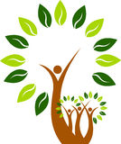 De boommens van de kunst Royalty-vrije Stock Afbeeldingen