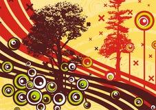 De boomontwerp van Grunge Stock Afbeeldingen