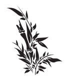 De boomsilhouetten van het bamboe Royalty-vrije Stock Fotografie