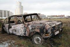De boomstam van de auto royalty-vrije stock afbeelding