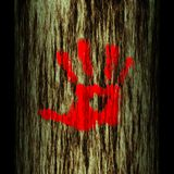 De boomstam van de boom: hand Royalty-vrije Stock Afbeelding