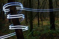 De boomstam van de boom met lichte spiraal Royalty-vrije Stock Foto