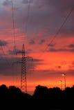 De boomstam van de elektriciteit Royalty-vrije Stock Foto's