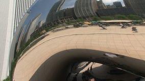 De Boon bij Millenniumpark, Chicago stock videobeelden
