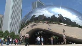 De Boon bij Millenniumpark, Chicago stock video