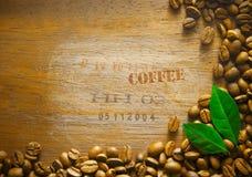 De boon van de achtergrond koffie grens Stock Foto