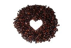 De Boon van de Koffie van de Vorm van het hart Stock Fotografie