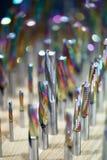 De boorbeetjes voor Metaal plaatsen dicht omhoog royalty-vrije stock foto's