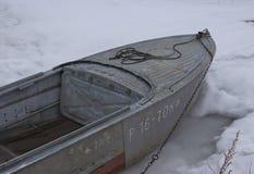 De boot bevroor royalty-vrije stock afbeeldingen