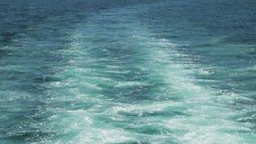 De boot drijft op Bladerensleep in Bosphorus stock footage
