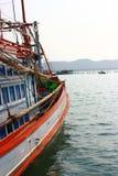 De boot gaat naar het overzees Stock Foto