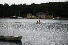 De boot gaat vissend Royalty-vrije Stock Foto